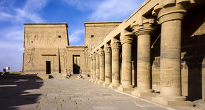 Egyptian temple. During the day the Sun Temple in Egypt Royalty Free Stock Photos