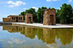 Egyptian Temple of Debod, Madrid, Spain Royalty Free Stock Photos