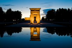 Egyptian temple horizontal Royalty Free Stock Images
