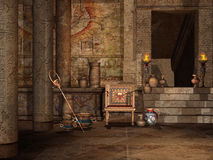 Egyptian temple interior Stock Photo