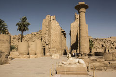 Egyptian Temple of Karnak Stock Image