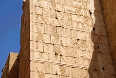Egyptian temple Karnak in Luxor Royalty Free Stock Photography