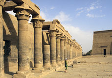 Egyptian Temple at Philae Royalty Free Stock Images