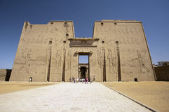 Egyptian temple ruins royalty free stock photo