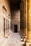 Egyptian temple-2. Saeulen der Hypostylhalle im Karnak-Tempel, Luxor, Aegypten Stock Images