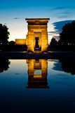 Egyptian temple vertical Royalty Free Stock Photos