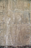 Egyptian temple wall fresco Royalty Free Stock Photos