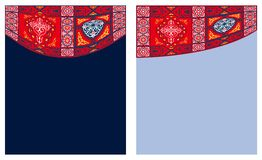 Egyptian Tent Fabric-Curtain Style 3 Stock Images