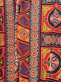 Egyptian Tent Fabric Pattern Stock Images