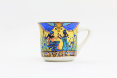 Egyptian-Themed Coffee Cup Royalty Free Stock Images