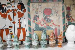 Egyptian traditional culture souvenirs Royalty Free Stock Image