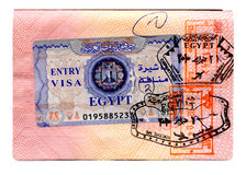 Egyptian visa Royalty Free Stock Photo