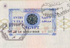 Egyptian visa Stock Photography