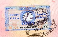 Egyptian visa stamp Royalty Free Stock Photo