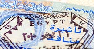 Egyptian visa stamp Royalty Free Stock Photos
