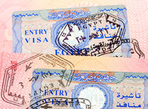 Egyptian visa stamp Royalty Free Stock Images