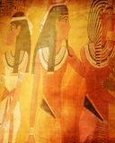 Egyptian wall paintings Royalty Free Stock Image
