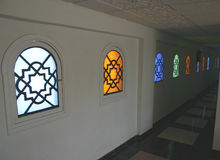 Egyptian windows. Nice colours of Egyptian windows Stock Photo