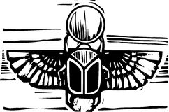 Egyptian Winged Scarab Royalty Free Stock Image