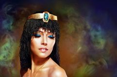 Egyptian woman bronze Royalty Free Stock Photos