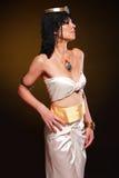 Egyptian woman bronze Royalty Free Stock Photo