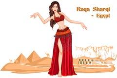 Egyptian Woman performing Raqs Sharqi dance of Egypt Royalty Free Stock Photo