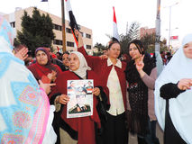 Egyptian women loves general Sisi Royalty Free Stock Photo