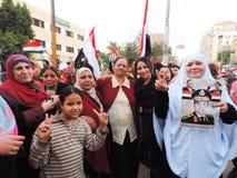 Egyptian women loves general Sisi Royalty Free Stock Image