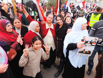 Egyptian Women loves general Sisi Stock Image