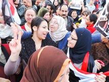 Egyptian women loves general Sisi Stock Images