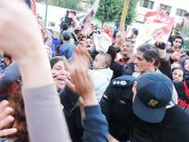Egyptian women loves police Royalty Free Stock Image