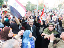 Egyptian women Sharing revolution Royalty Free Stock Image