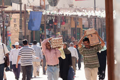 Egyptian Workers in Cairo, Egypt. Egyptian Workers in Cairo. Egypt Stock Images