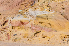 Egyptian yellow mountains. Red and yellow rock background Stock Photos