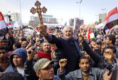 Egyptians Copts Revolution Royalty Free Stock Photo