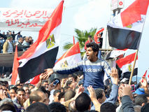 Egyptians demonstrating against military rule Stock Image