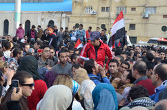 Egyptians demonstrating against military rule Royalty Free Stock Images