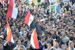 Egyptians demonstrating against military rule Stock Photography