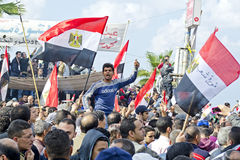 Egyptians demonstrating against military rule Royalty Free Stock Photos