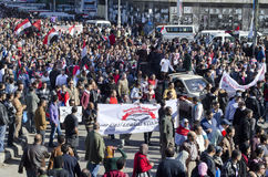 Egyptians demonstrating against president Morsi Royalty Free Stock Photography