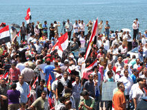 Egyptians demonstrators calling for reform Royalty Free Stock Photos