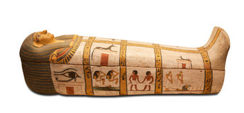 Egyptians sarcophagus Stock Image