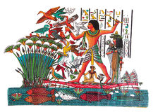 Egyptien de dessin images libres de droits