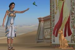 Egyptier Amunet royaltyfri fotografi