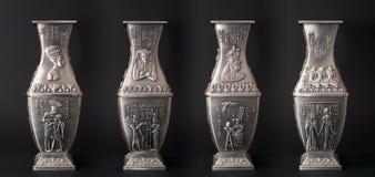 egyptier fyra vases Arkivfoton