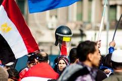 Egyptier i den arabiska revolutionen royaltyfri bild