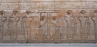 egyptier inristad bildvägg Arkivbild