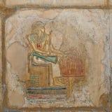 egyptier målad lättnad arkivbilder