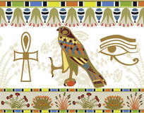 egyptier mönsan symboler Stock Illustrationer
