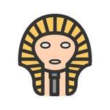 Egyptier vänder mot stock illustrationer